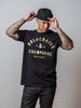 Gold Chains & Champagne | Black Tee