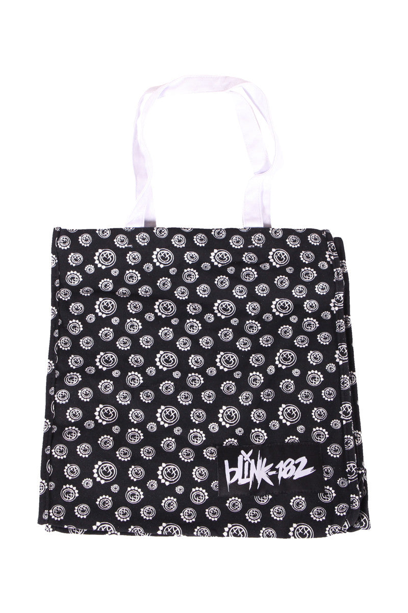 blink182 Multi Smiley Tote Black