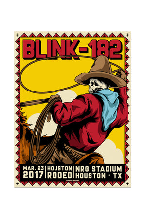 blink-182 3/23/2017 Houston, TX Event Poster