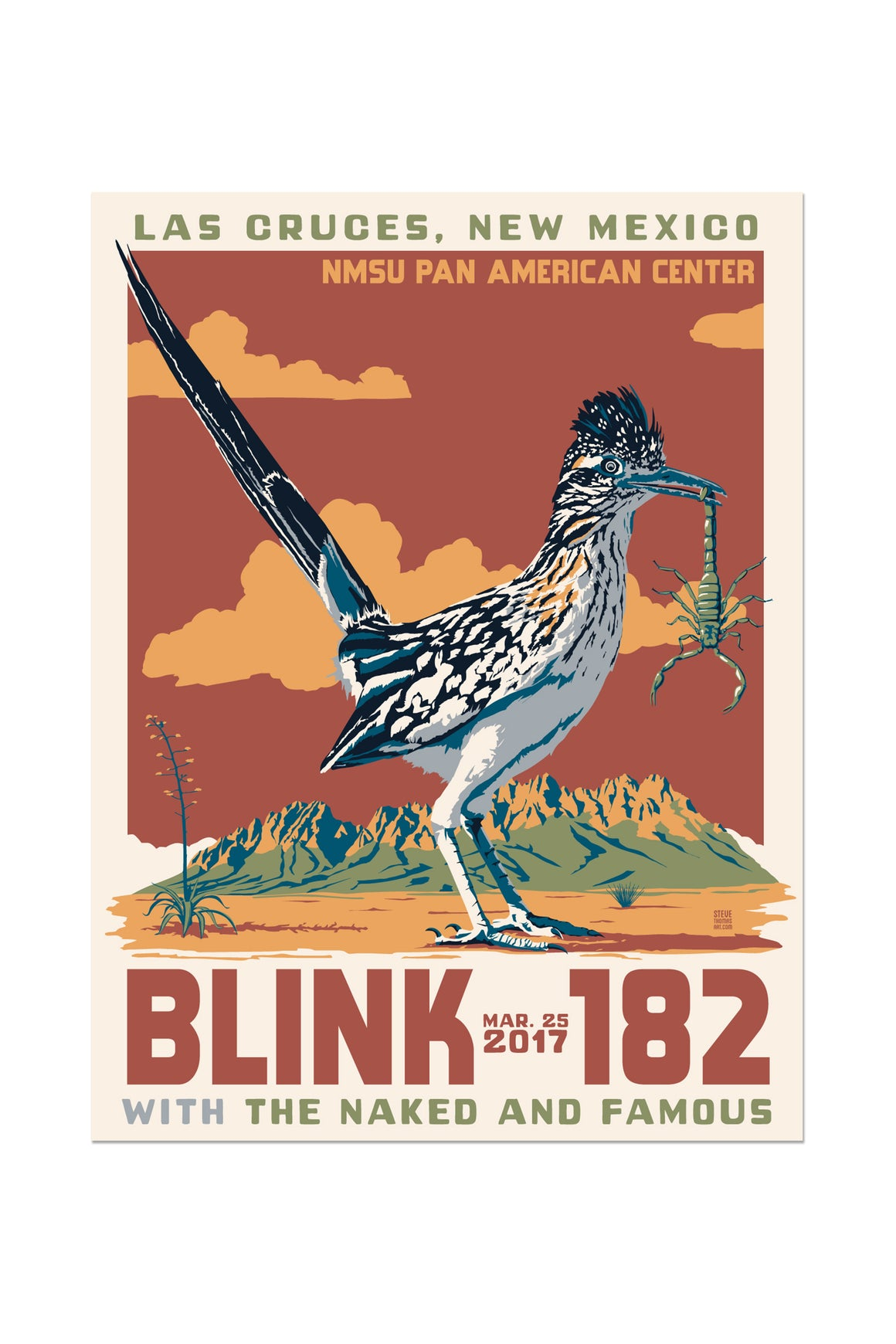 blink-182 3/25/2017 Las Cruces, NM Event Poster
