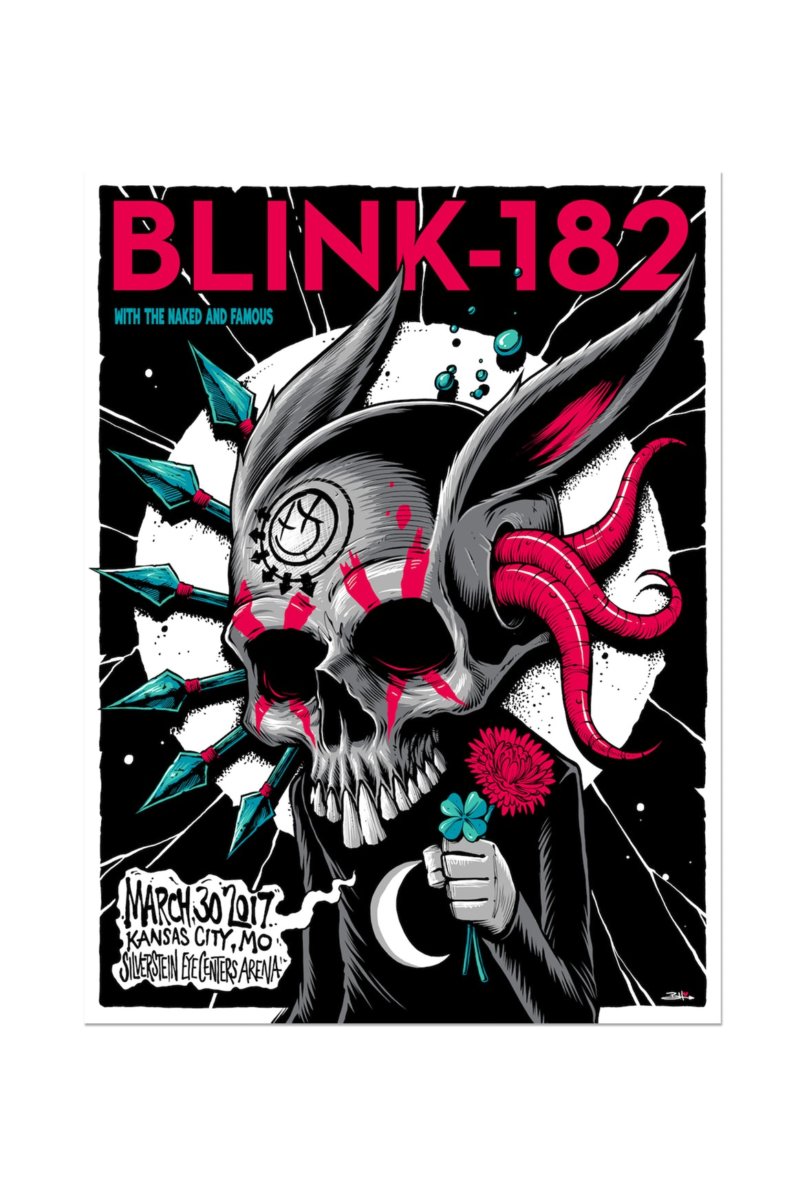blink-182 3/30/2017 Kansas City, MO Event Poster