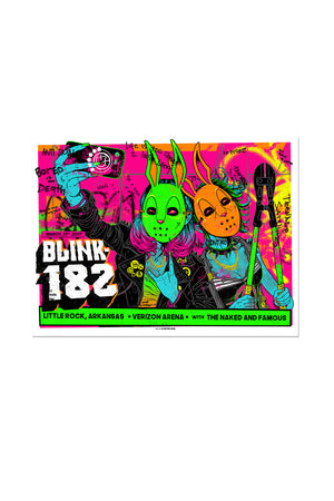 blink-182 3/31/2017 Little Rock, AR Event Poster