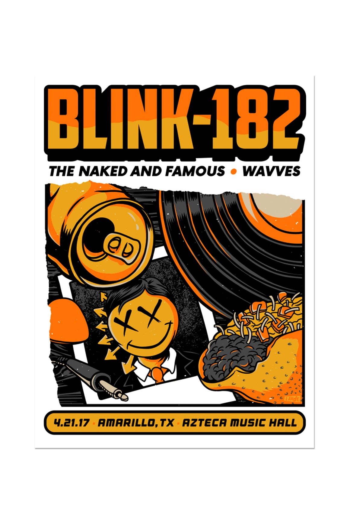 blink-182 4/21/2017 Amarillo, TX Event Poster