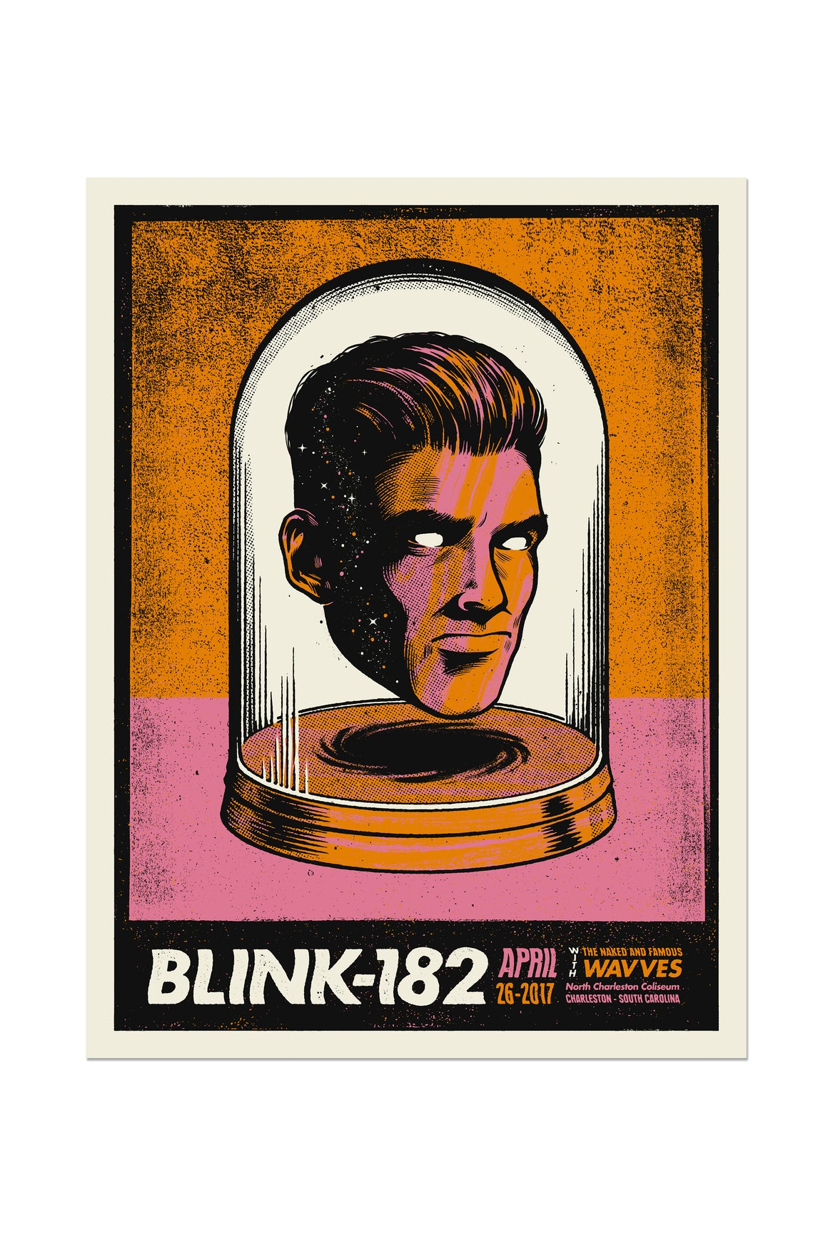 blink-182 4/26/2017 Charleston, SC Event Poster