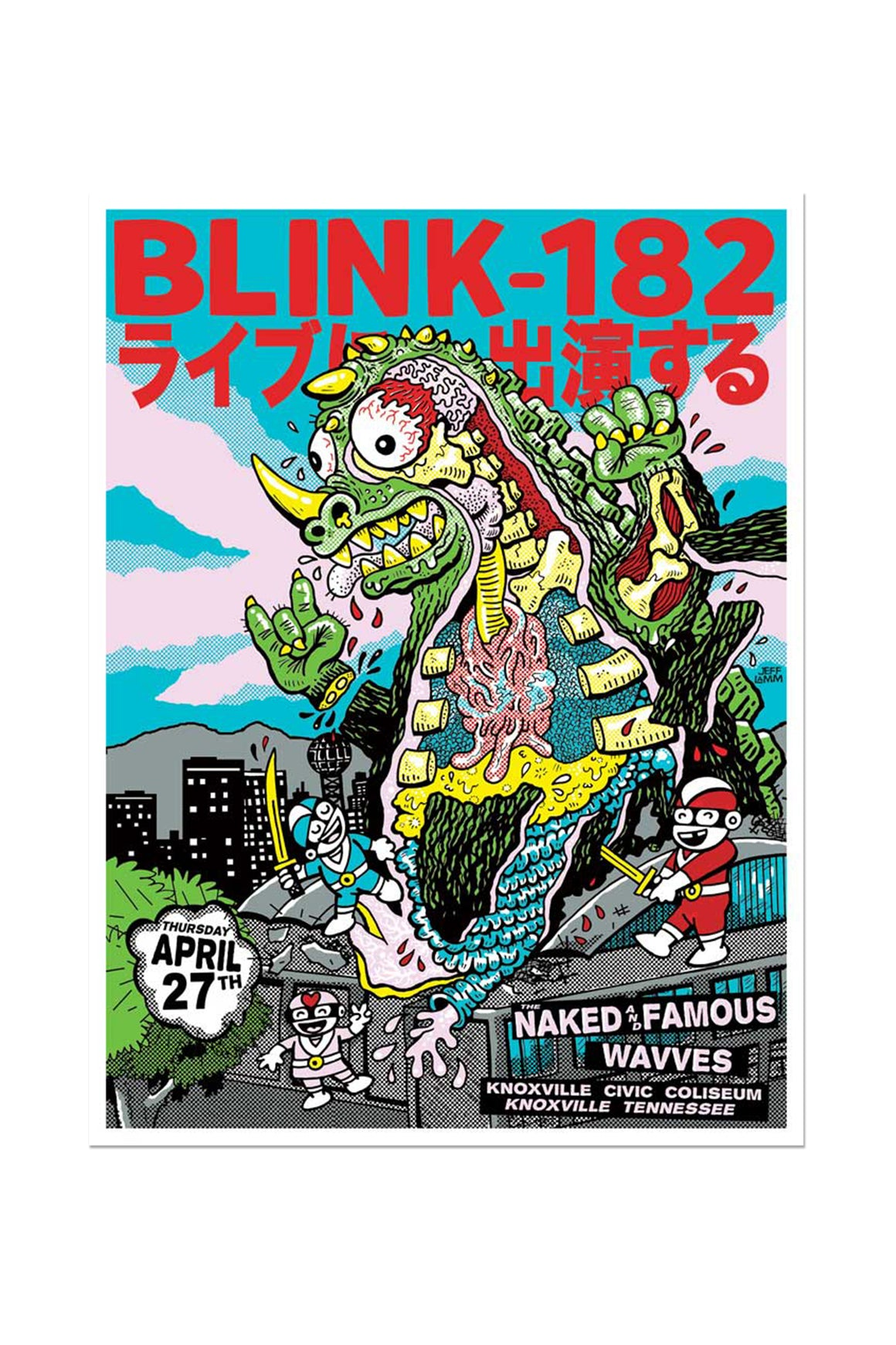 blink-182 4/27/2017 Knoxville, TN Event Poster