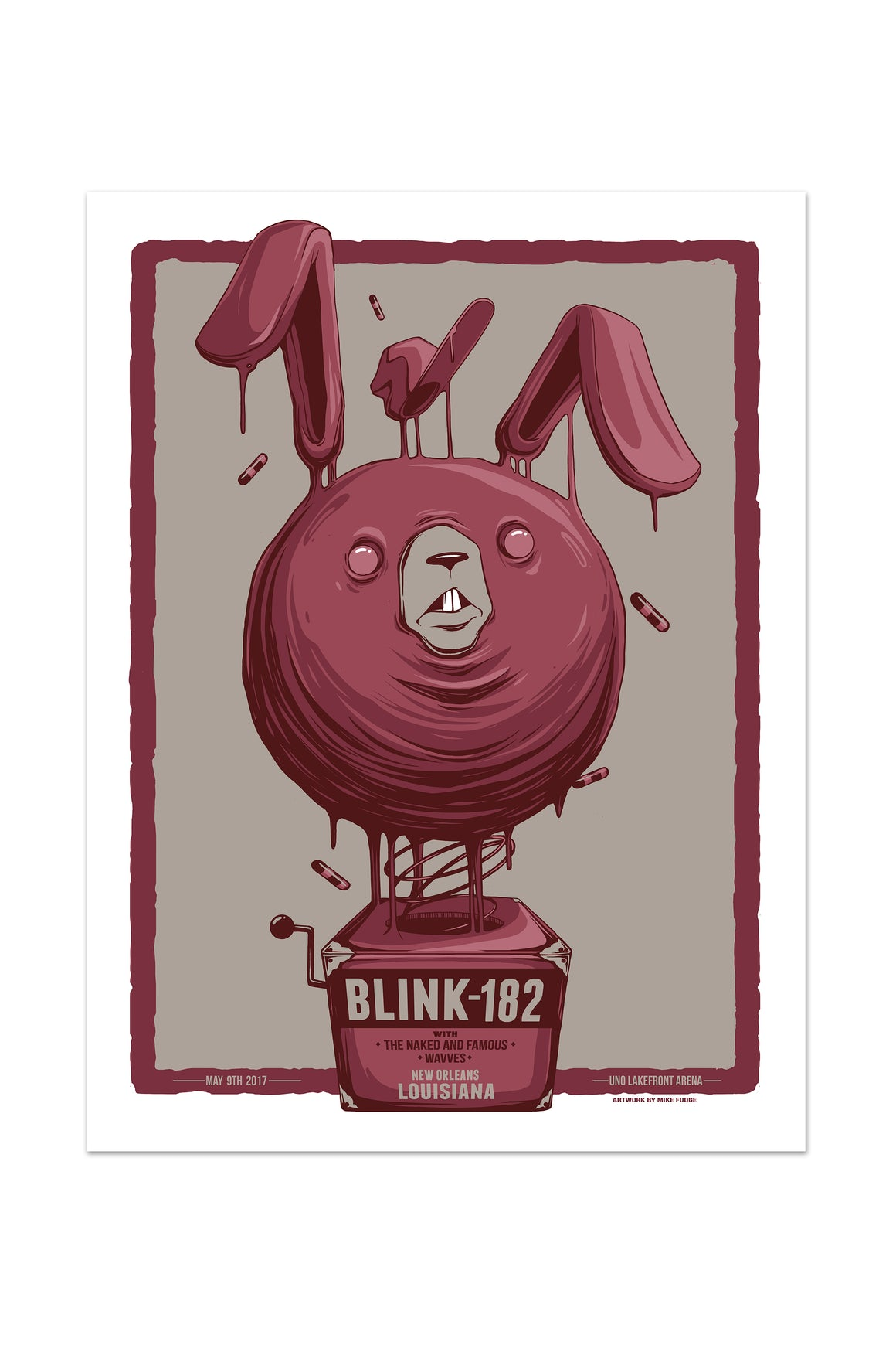 blink-182 5/9/2017 New Orleans, LA Event Poster