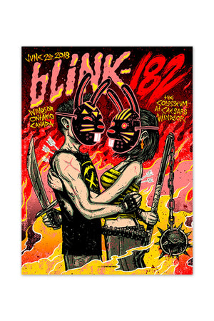 blink-182 06/2/2018 Windsor, Ontario Canada Event Poster