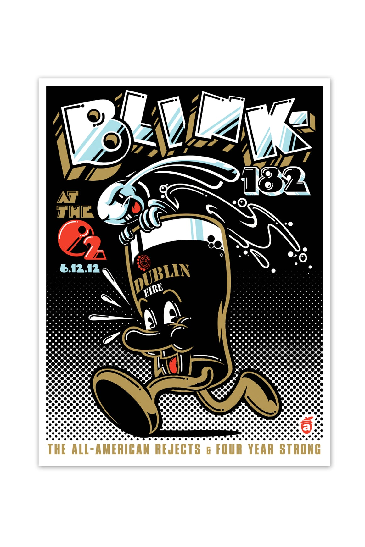 blink-182 6/12/2012 Dublin, Ireland Event Poster