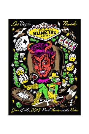 blink-182 6/15/2018 and 6/16/2018 Las Vegas, NV Event Poster