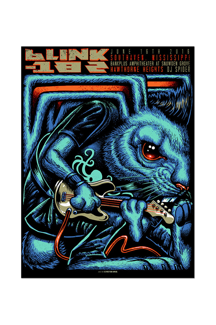 blink-182 6/16/2016 Southaven, MS Event Poster