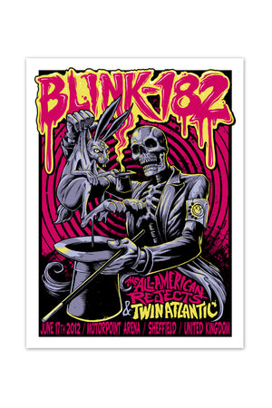 blink-182 6/17/2012 Sheffield, England Event Poster