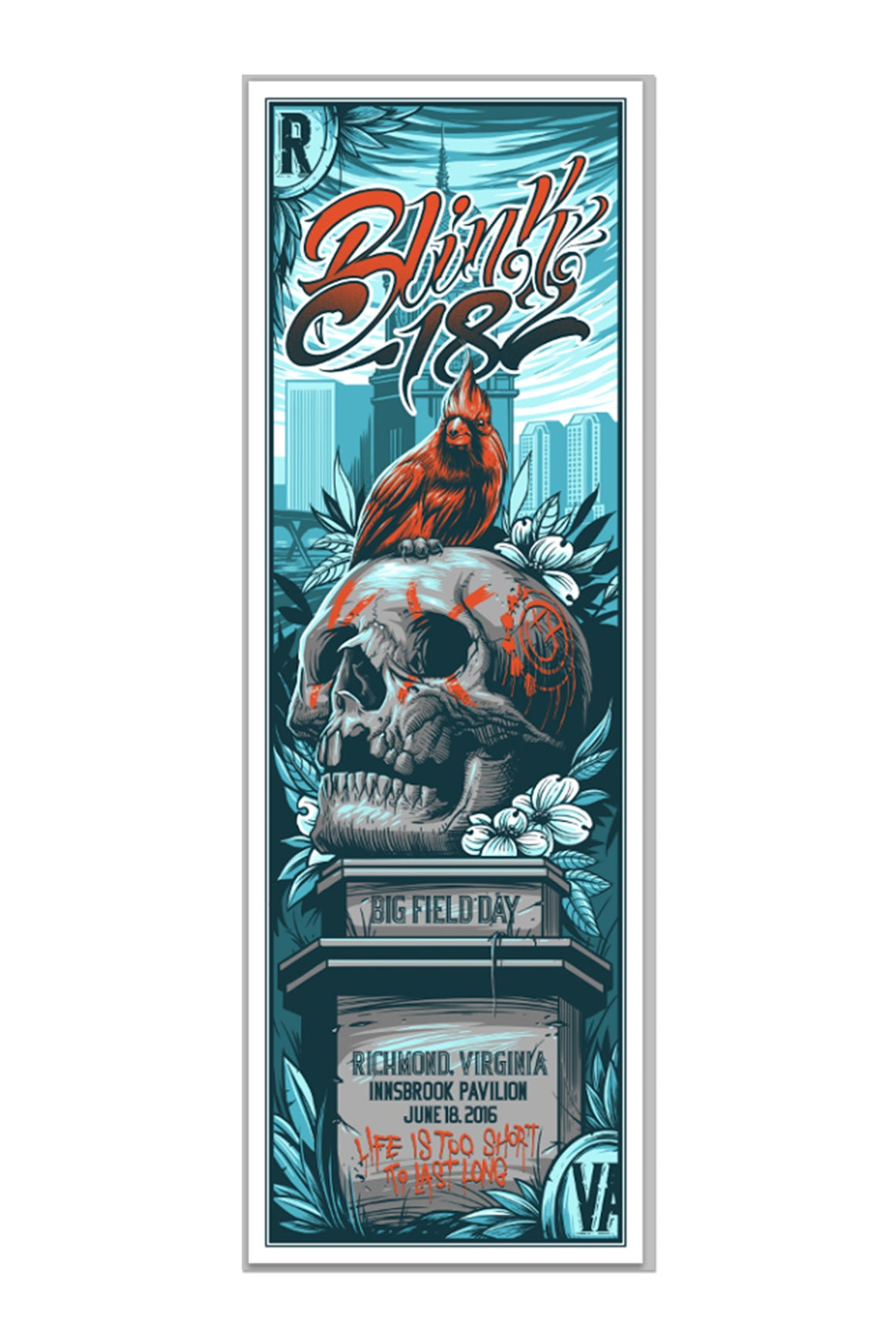 blink-182 6/18/2016 Richmond, VA Event Poster