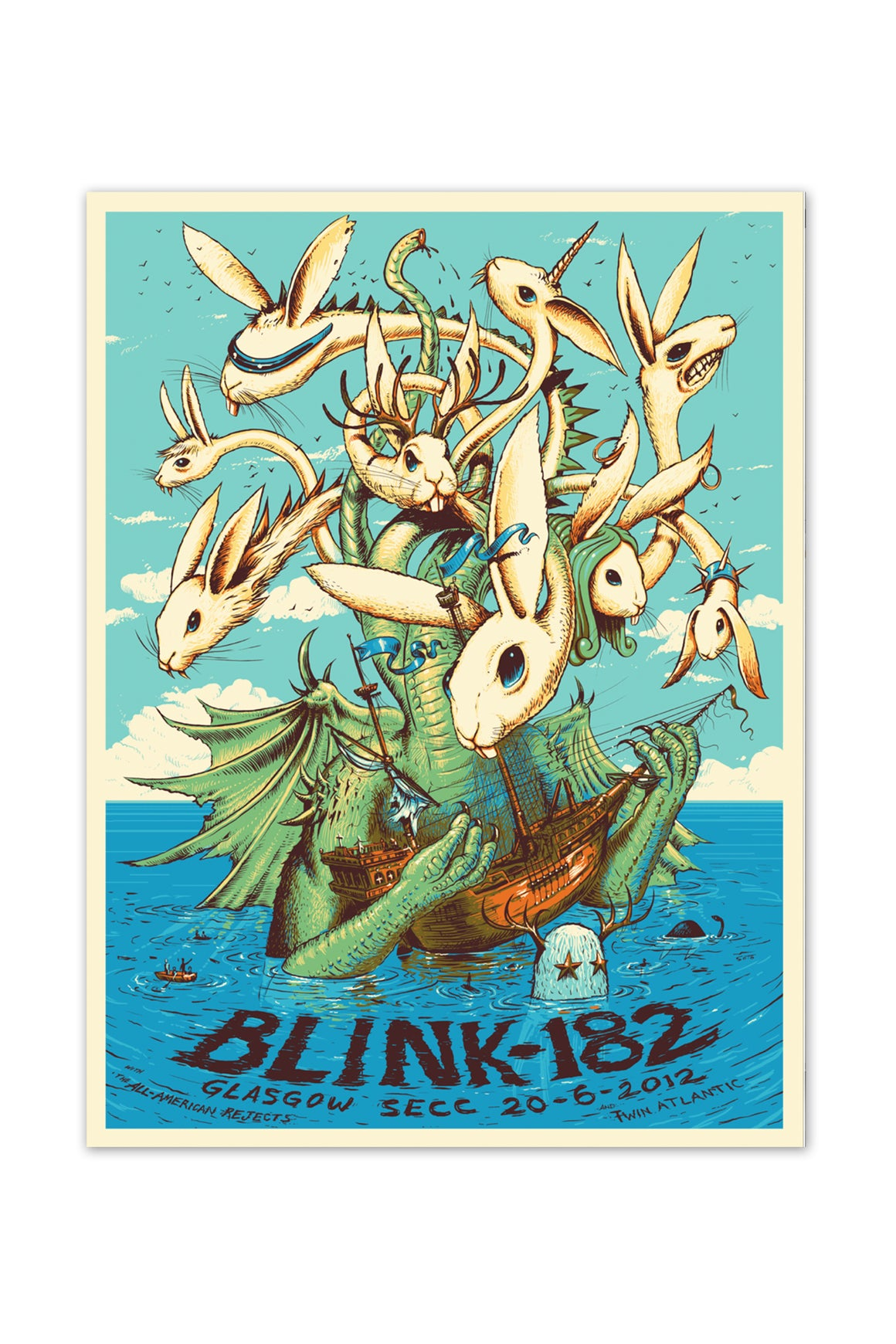 blink-182 6/20/2012 Glasgow, Scotland Event Poster