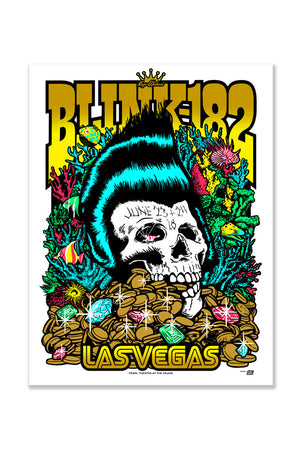 blink-182 6/23/2018 and 6/24/2018 Las Vegas, NV Event Poster