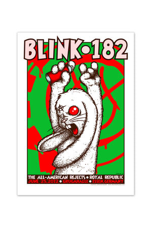 blink-182 6/25/2012 Essen, Germany Event Poster