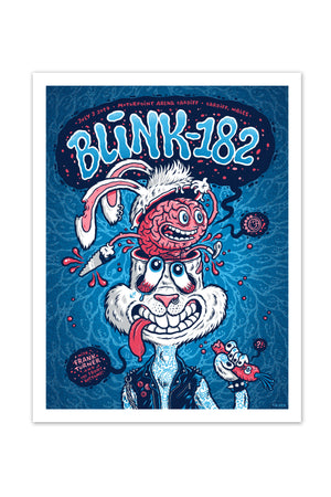 blink-182 7/3/2017 Cardiff, Wales Event Poster