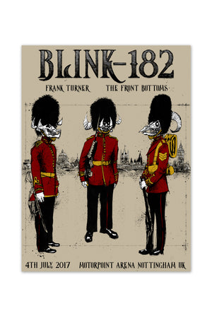 blink-182 7/4/2017 Nottingham, England Event Poster