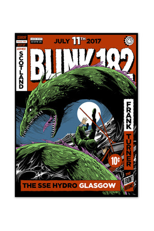 blink-182 7/11/2017 Glasgow, Scotland Event Poster