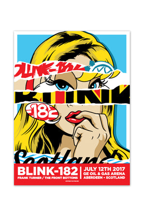 blink-182 7/12/2017 Aberdeen, Scotland Event Poster