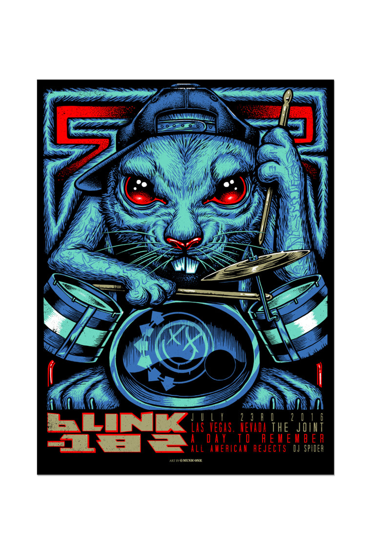 blink-182 7/23/2016 Las Vegas, NV Event Poster
