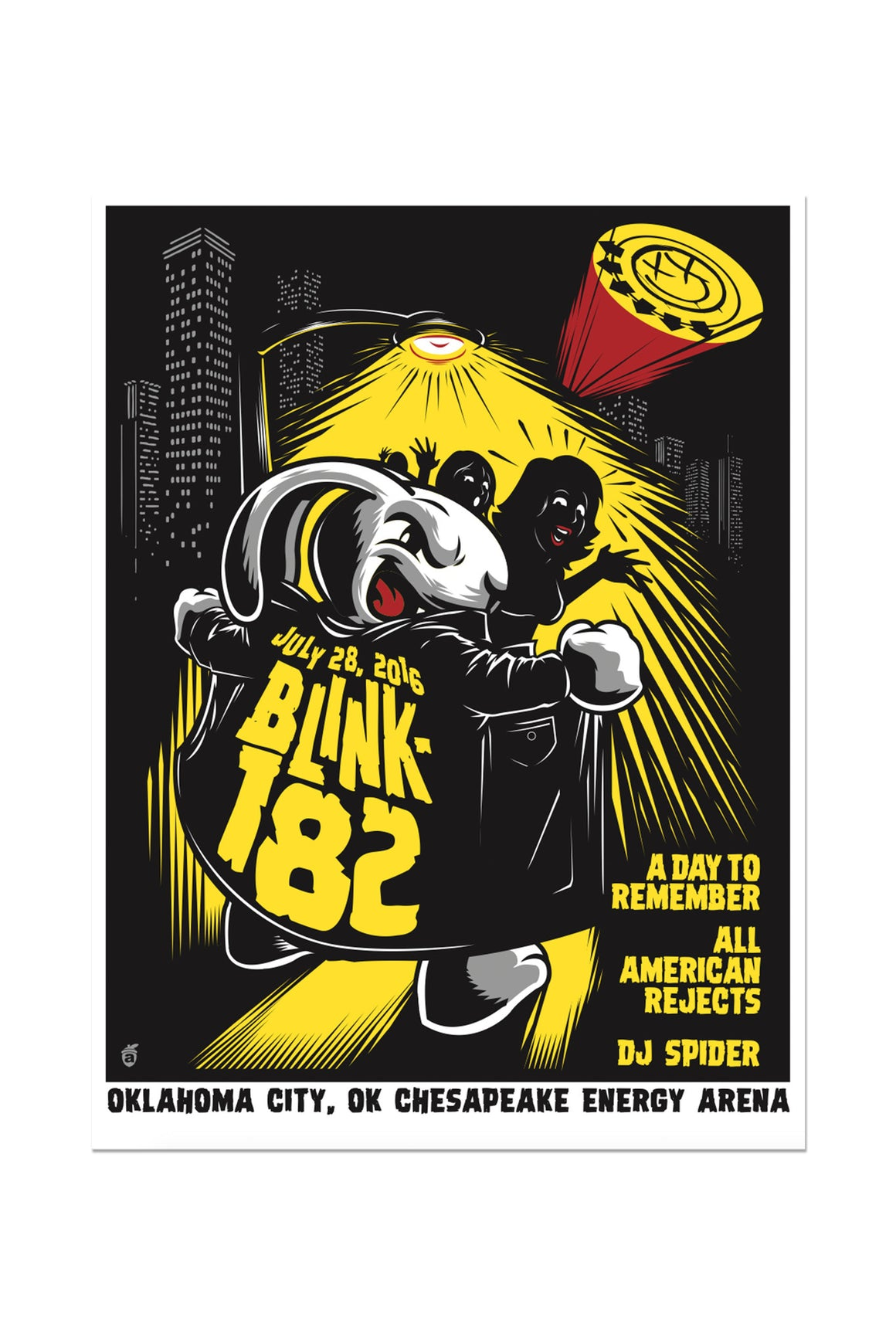 blink-182 7/28/2016 Oklahoma City, OK Event Poster