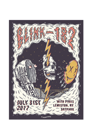 blink-182 7/31/2017 Lewiston, NY Event Poster