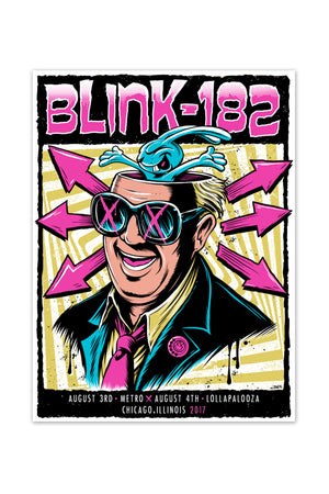blink-182 8/3/2017 - 8/4/2017 Chicago, IL Event Poster