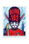 blink-182 8/8/2014 London, England Event Poster
