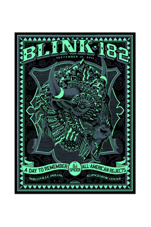 blink-182 9/10/2016 Noblesville, IN Event Poster