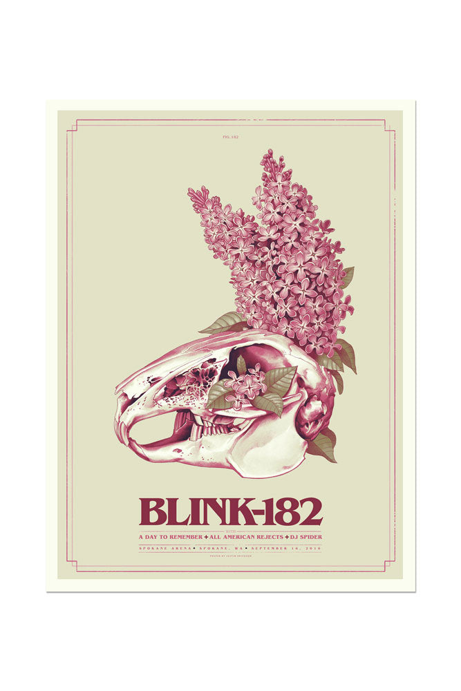 blink-182 9/16/2016 Spokane, WA Event Poster
