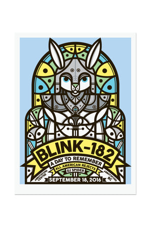 blink-182 9/18/2016 Abbotsford, BC Event Poster
