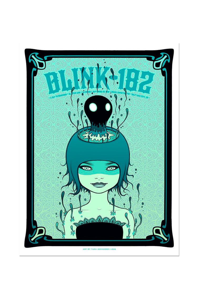 blink-182 9/22/2016 Salt Lake City, UT Event Poster