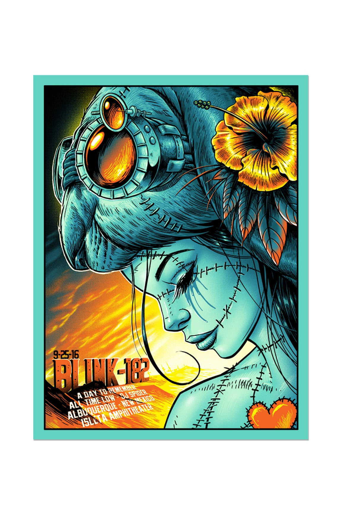 blink-182 9/25/2016 Albuquerque, NM Event Poster