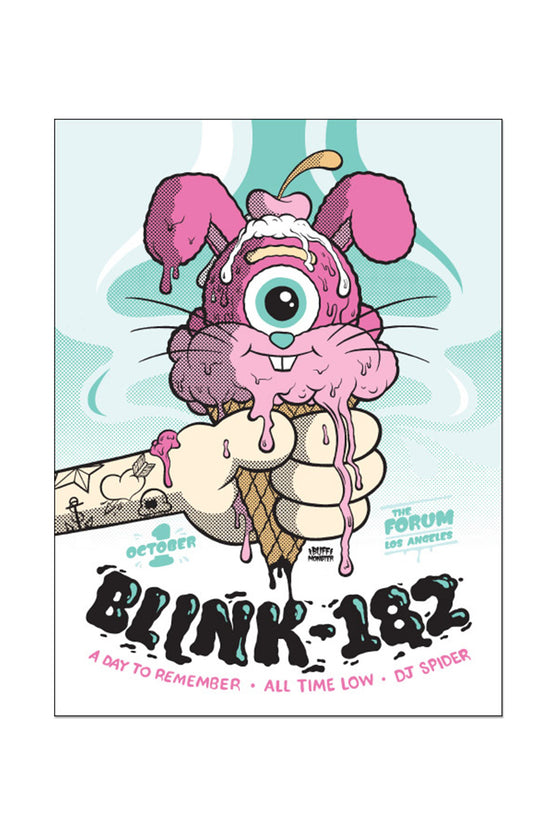 blink-182 10/1/2016 Los Angeles, CA Event Poster