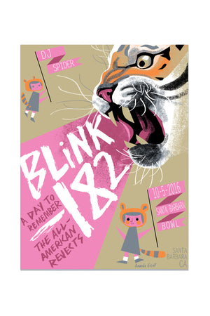 blink-182 10/5/2016 Santa Barbara, CA Event Poster