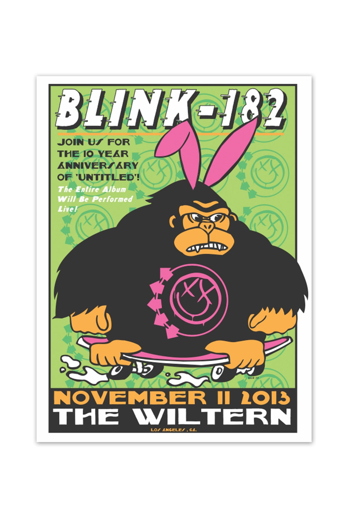blink-182 11/11/2013 Los Angeles, CA Event Poster