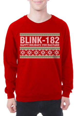 blink 182 2018 Holiday Sweatshirt Red
