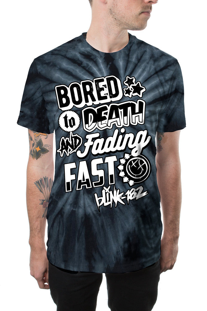 blink-182 Bored Type Tee Black Wash