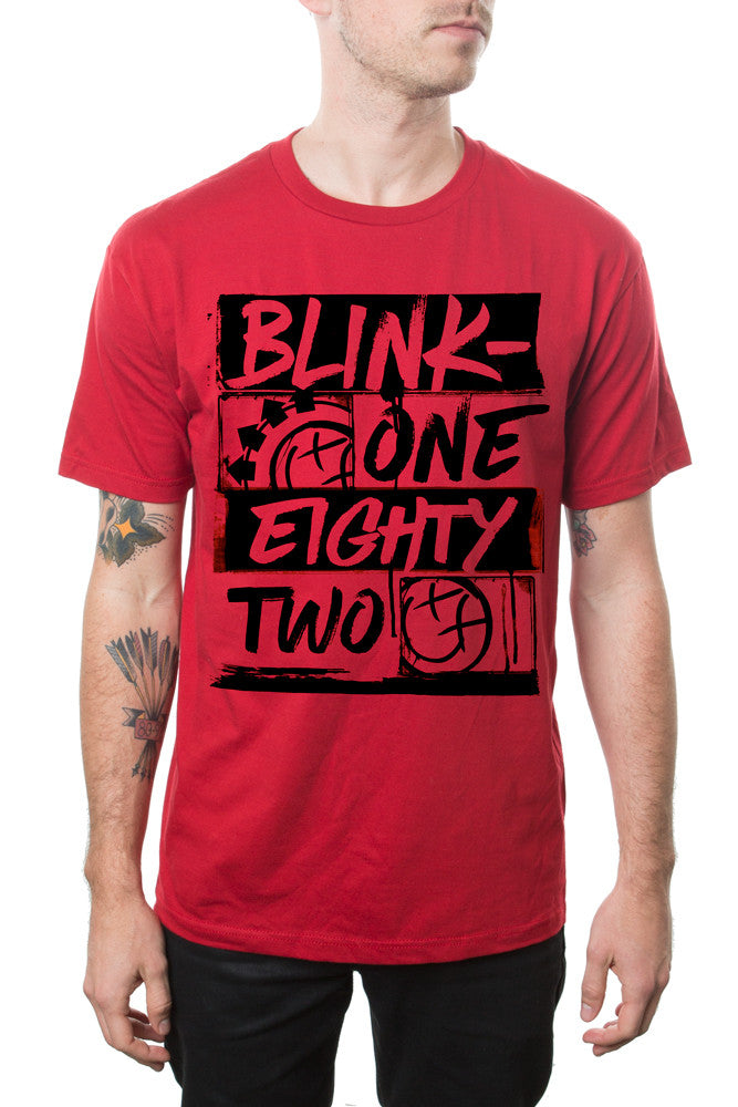 blink-182 Brush Type Tour Tee Red