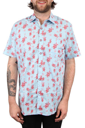 blink182 Bunny Bahama Button Up Shirt Blue