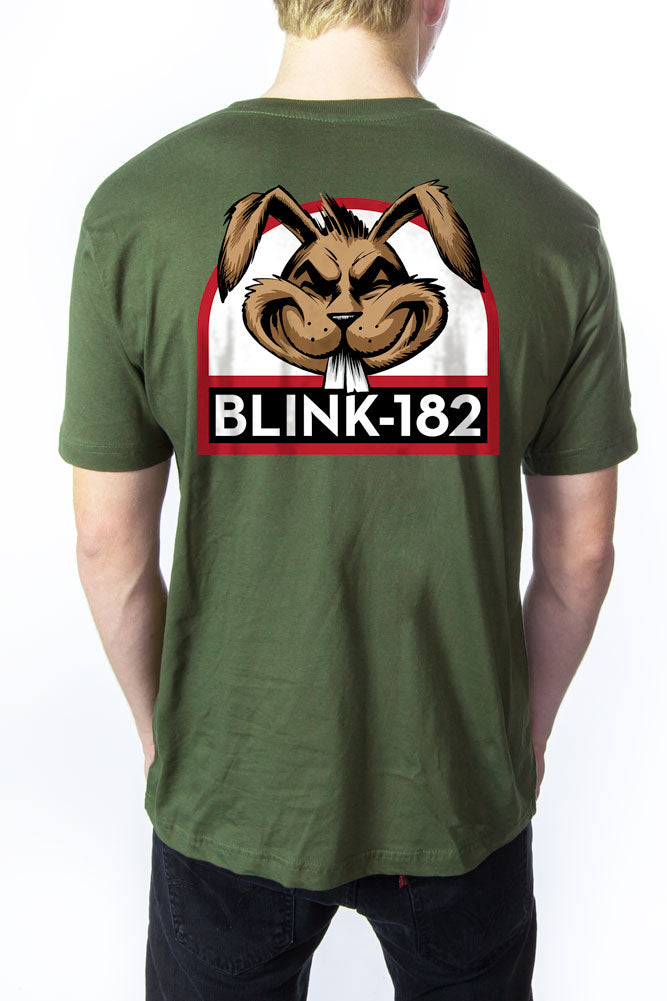 blink-182 Bunny Head Tee Army Green