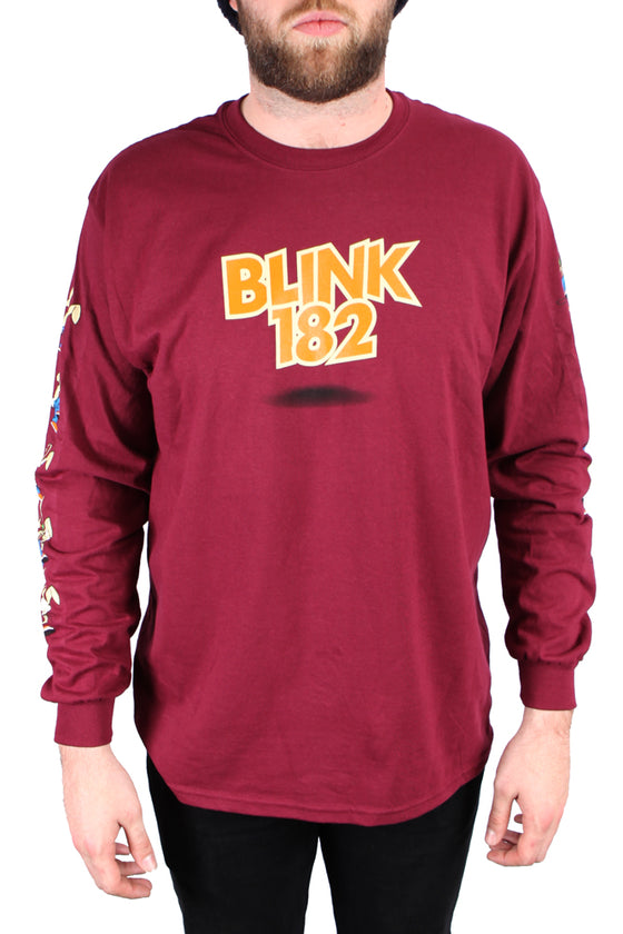 blink-182 Classic Long Sleeve Tee Maroon