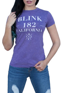 blink182 Cosmo Tour Tee Heather Purple