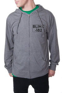 blink182 Layers Zip Hoodie Gunmetal Heather