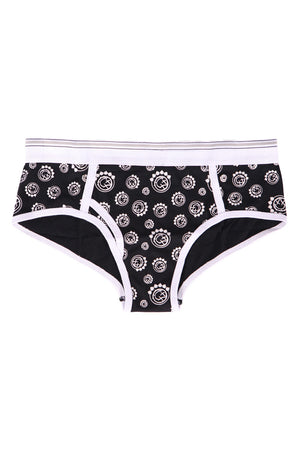 blink182 Multi Smiley Girls Briefs Black