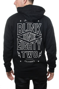 blink-182 Pointed Zip Hoodie Black