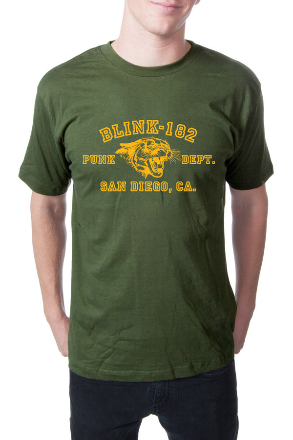 blink182 Punk Dept Tee Army Green