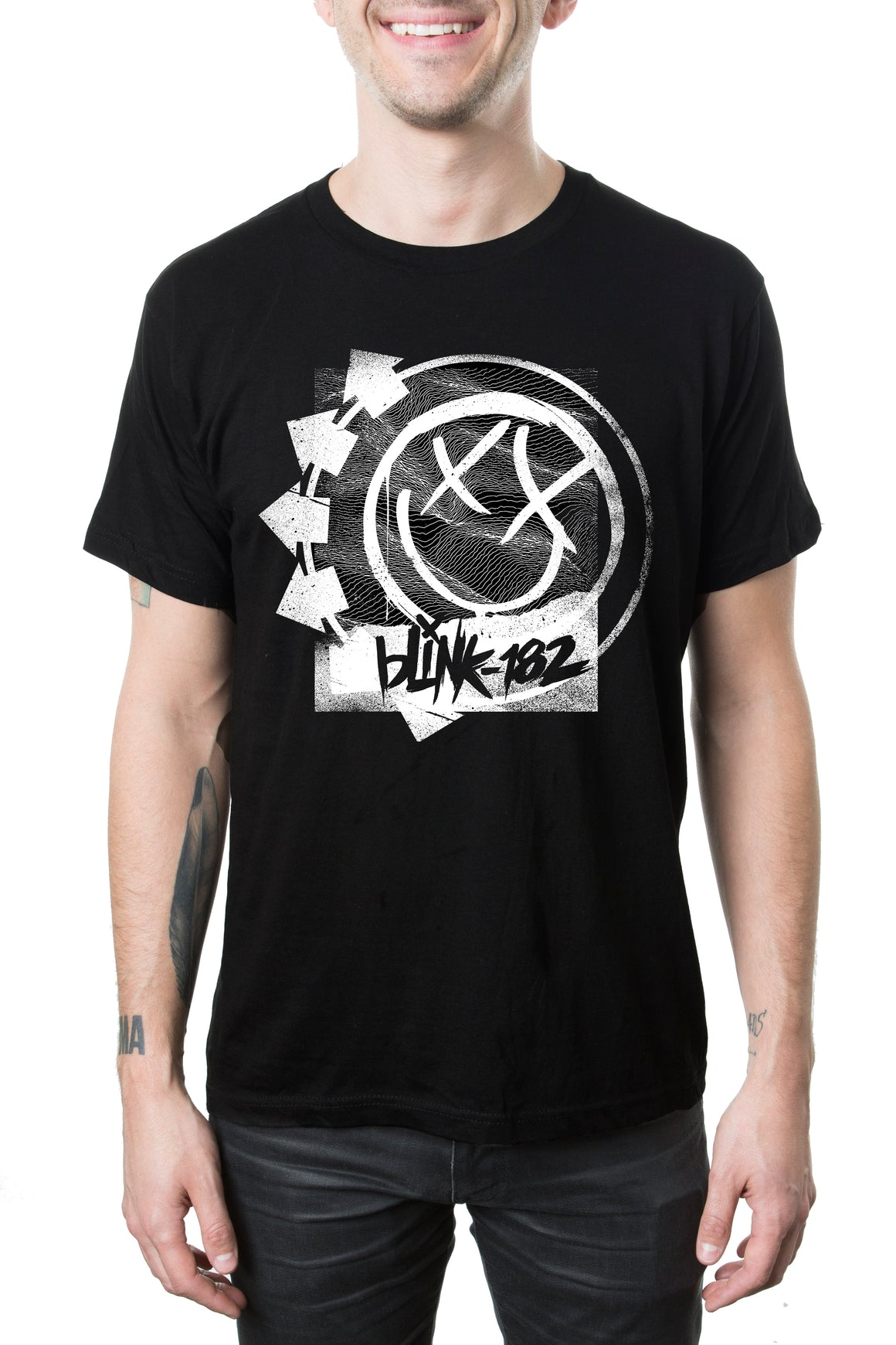 blink182 Rippled Tee Black