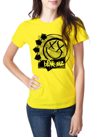 blink182 Rippled Girly Tee Sunshine