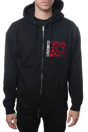 blink182 Surf Box Zipper Hooded Sweatshirt Black
